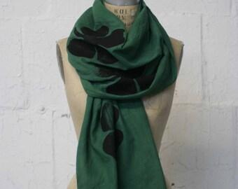 Green Scarf Irish Clover Shamrock Scarves, Accessories, St. Patrick's Day , Ireland