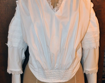 Mid 1800s Reeneactment costume bodice blouse made to order custom