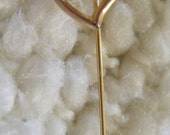 Vintage Pin Stick Pin Heart Gold Tone Stick Pin
