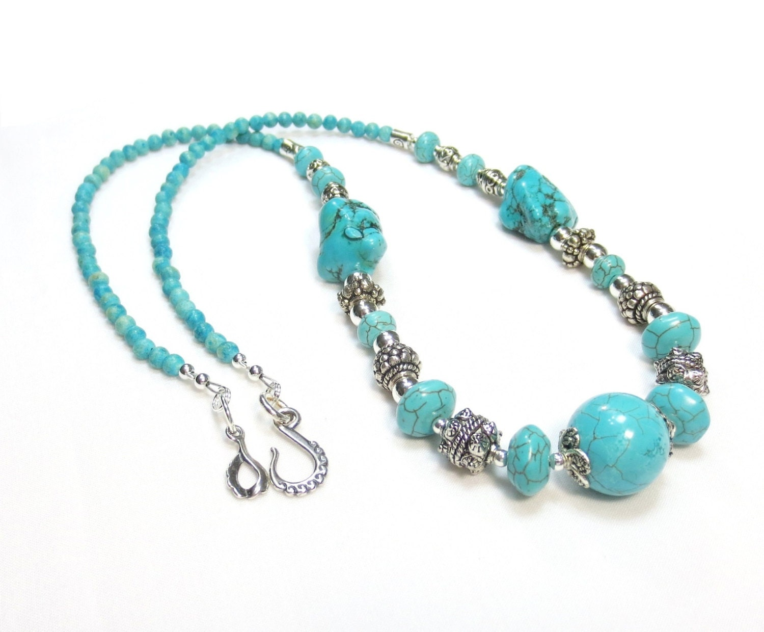 chunky turquoise necklace statement necklace turquoise