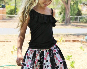 Stripwork Skirt PDF pattern and tutorial - sizes NBmonths - 12yrs - Girl - By LittleKiwis Closet