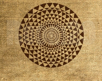 INSTANT DOWNLOAD - Vintage Sepia Mandala Illustration - Download and Print - Image Transfer - Digital Sheet by Room29 - Sheet no. 1086