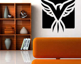Vinyl Wall Decal Sticker Eagle Square OSAA1293m