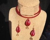 Cowry Shell necklace hand painted