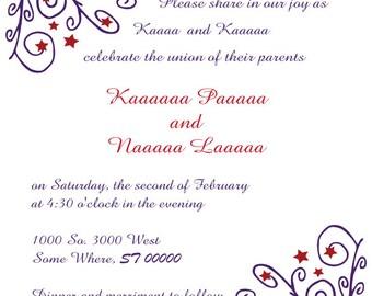 Wedding Invitation, Custom Design, Professional Wedding Invite Design