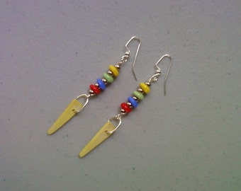 Yellow, Red, Blue and Green Earrings (1221)