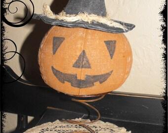 """Primitive """"Jack Nodder"""" Make-Do instant download Halloween e-pattern"""