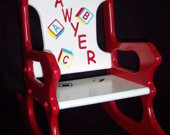 Child's Rocking Chair - red - toddler