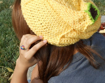 Banana Slouchy Hat - Crochet Pattern