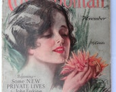 antique Cosmopolitan Magazine illustrated literary advertisement 1927 complete fashions roaring 20's