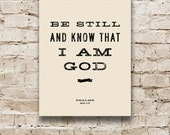 BE STILL Scripture Verse, Stretched Canvas Bible Verse, Inspirational Quote Wall Hanging. Psalms. 12 x 16