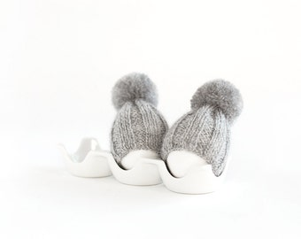 SALE 10% OFF Grey egg warmers