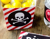 Pirate Party PRINTABLE Gift Box (INSTANT DOWNLOAD) by Love The day