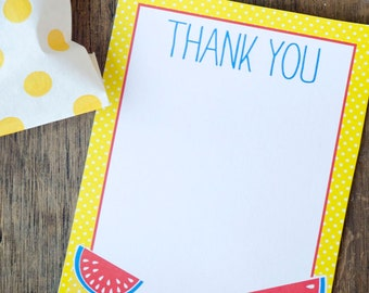 Summer Picnic party PRINTABLE Thank You Cards (INSTANT DOWNLOAD) by Love The Day