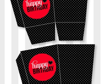 Ladybug Party PRINTABLE Birthday Favor Box (INSTANT DOWNLOAD) by Love The Day