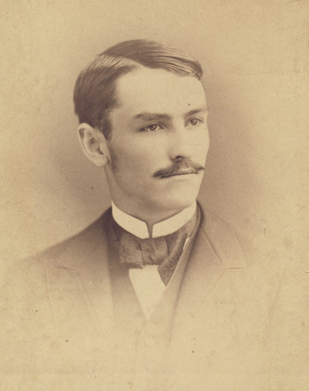 Handsome Victorian Man with Neatly Trimmed Moustache Cabinet