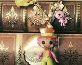 Lalaloopsy Mad Hatter  in Lalaloopsyland Doll necklace