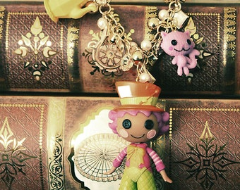 Lalaloopsy Mad Hatter  in Lalaloopsyland Doll necklace