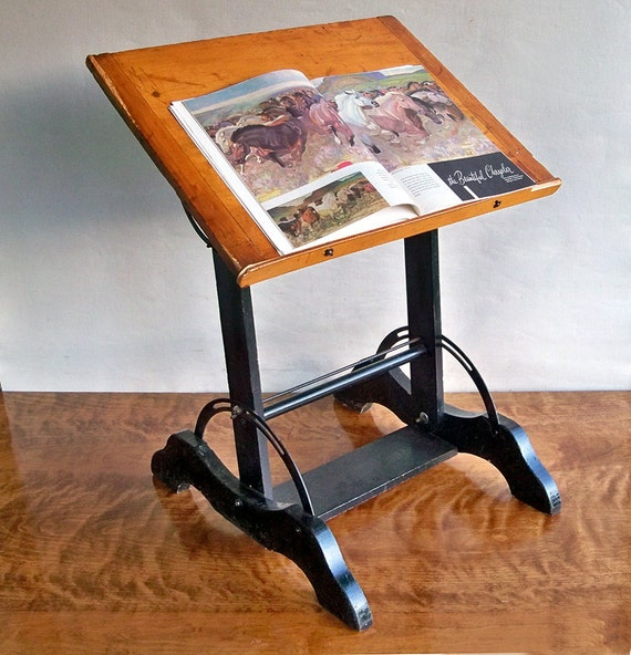 Vintage Drawing Table Artist S Table Small Drafting