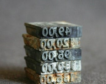 The price is right. Vintage letterpress numbered printing blocks series.