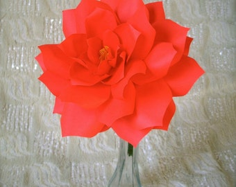 Large  Handmade Paper Flower  - Stems available upon request -  Custom order available