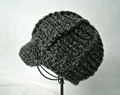 0-3 months Grey Tweed Newsboy Hat Photography Prop Girl or boy