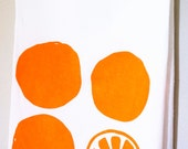 Orange Fruit Cotton Flour Sack Tea Towel