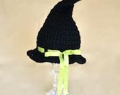 Baby Halloween Costume, Newborn Halloween Costume, Baby Witch Hat, Newborn Witch Hat, Infant Halloween Costume, Baby Witch Costume