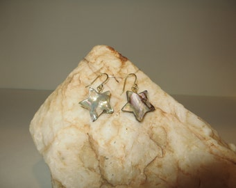 Abalone Shell Star Earrings