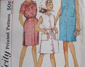 Vintage 1963 Girl's Shift Dress and Scarf Pattern - Simplicity 5008 - Size 8, Breast 26