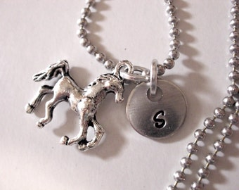 Super Sale Now Horse Necklace, Horse Jewelry, Personalized Horse Necklace, Animal Jewelry, Wildlife Jewelry, Charm Jewelry