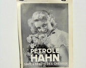 Vintage Hahn Hair and Beauty Oil French Ad, Art Deco Era, 1930s France, Beauty Advertisement, 1930s Paper Ephemera, L'Illustration