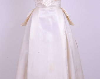 60's Jackie O Presidential White Dinner Gown