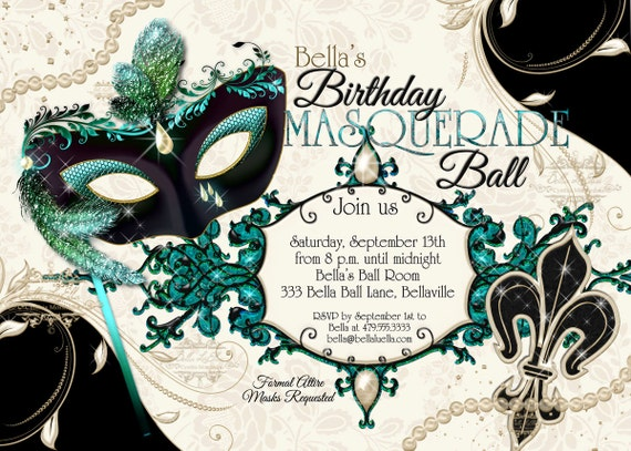 masquerade party invitations
