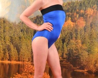 70s Union Made Royal Blue Swimsuit - Sz 6 Petite
