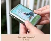 """Korea illustration Mini Postcard """"Kim ji-hyuck Classic"""" (Tin Case 40 sheets)"""