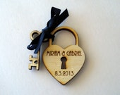Sample Heart and Key Custom Engraved wedding favor