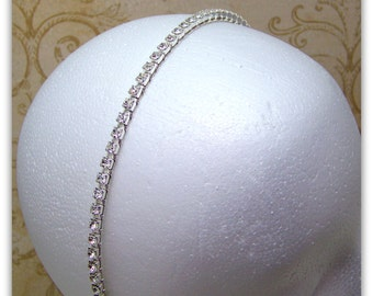 Medieval Headband - Renaissance Headband, Wedding Headband, Tudor Headband, Rhinestone Headband, Anne Boleyn