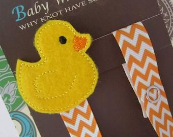 Rubber Duck Pacifier Clip, Ducky Pacifier Clip, Animal Pacifier Clip, pcduck02