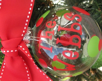 PERSONALIZED ORNAMENT Family Christmas Ornament