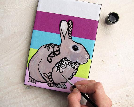 Kit de peinture Zentangle Animal - griffonner pour enfants et adultes