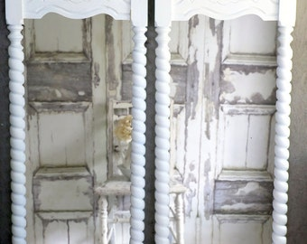 Vintage Greek Revival Chic Mirror Shabby Cottage Chic Vanity French Country
