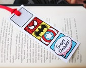 Superhero Collection. Super Reader Bookmarks. DiGiTAL DOWNLOAD. DiY Printable Design. Pinkadot Shop