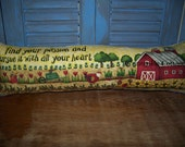 Primitive Pillow - Garden Pillow - Porch Pillow - Shelf Sitter - Cupboard Tuck