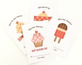 Personalized Kid's Valentine Cards, Children's Classroom Valentines // SWEETS