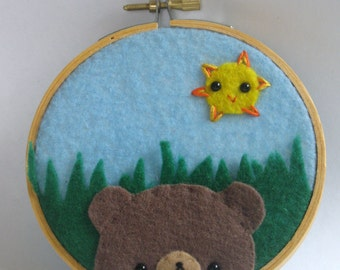 Teddy Bear Hoop Art