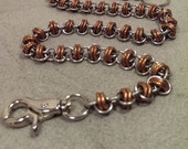 Twist of Fate Stainless Steel and Copper Chainmaille Wallet Chain