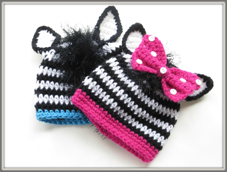 Crochet Pattern Zebra Beanie Crochet Pattern Animal Hat
