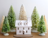 Putz House Ornament DIY Kit Colonial Glitter House Christmas Decoration
