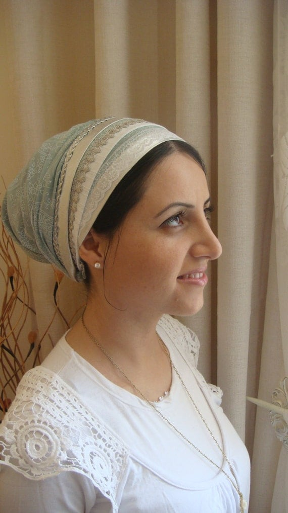 scarf israel headcovers tichel lace apron fancy israeli